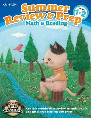 Kumon Summer Review & Prep Workbooks 1-2,PB,Kumon Publishing - NEW