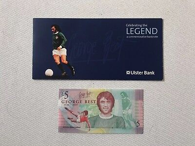 2006 Ulster Bank £5 Five Pound George Best note with folder