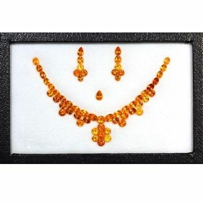 37.21 Cts-Fantastic-Top Necklace Set-100 % Natural Mandarin Spessertite Garnet