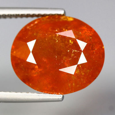 13.44 Cts_Unbelievable Gemstone_100 % Natural Reddish Orange Spessertite Garnet