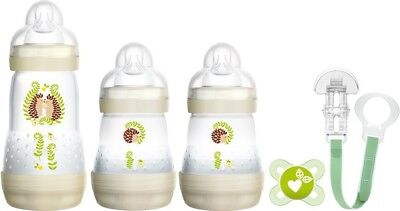 MAM Welcome to The World Set Includes Bottles, SooTher and Clip - White