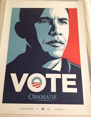 Obama  VOTE Print Shepard Fairey Obey Giant 2008 Limited Edition of 5000