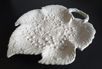 Royal Creamware Occasions Leaf Shaped Dish Relief leaf and berry design