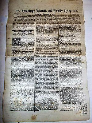 1746 THE CAMBRIDGE JOURNAL & Weekly Flying Post VOL.II Numb.68 Foreign Affairs.