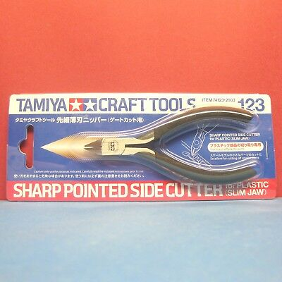 Tamiya #74123 Sharp Pointed Side Cutter for Plastic (Slim Jaw) [CRAFT TOOLS]