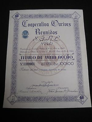 Cooperative Goldsmith Meeting - One  share certified 1943