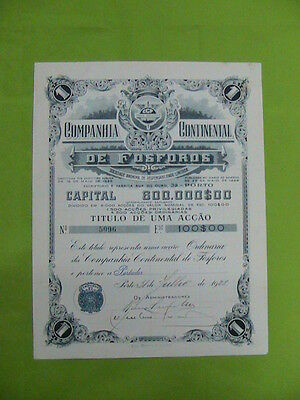 continental matches company 1928 -  one share certified