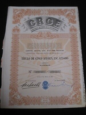 Collected Gas and Electricity Companies - Five share certified 1960