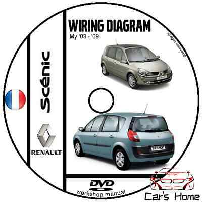 MANUALE OFFICINA RENAULT SCENIC II WIRIKNG DIAGRAM my 03-09 WORKSHOP MANUAL DVD