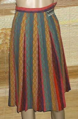 Gently Preowned Vintage Koret of California Botany 100% Wool Skirt Pleated Small