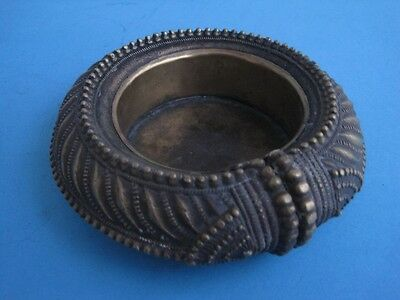 Antique ashtray in bronze and brass