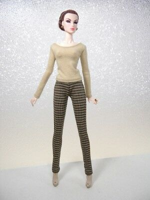 Houndstooth Pants & Long Sleeve Top by KK Fits Fashion Royalty, FR2, NuFace