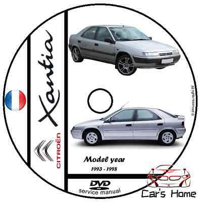 Manuale Officina Citroen Xantia My 1993 - 1998 Workshop Manual Pdf Dvd