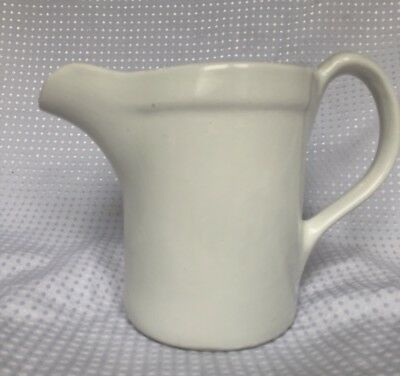 Vintage Heavy White Ironstone Pitcher from Museum Of Modern Art