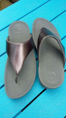 Fitflops Fitflop Lulu size 8 Pewter excellent condition