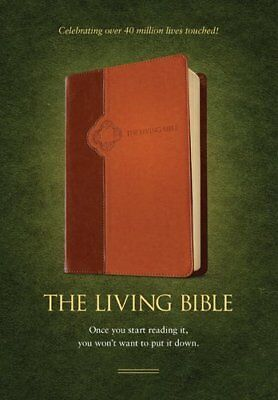 TLB Living Bible TuTone Brown Tan Lthlike,IL,Tyndale House Publishers - NEW