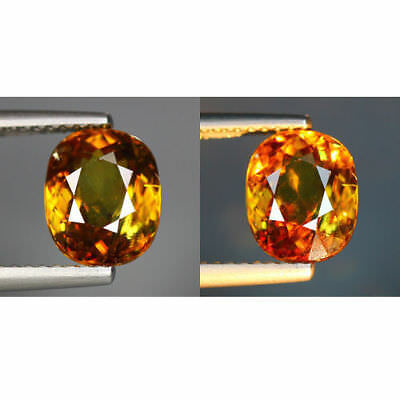 2.42 Cts_Wow !! Alexandrite Hue_100% Natural Titanite Color Change Sphene_Russia
