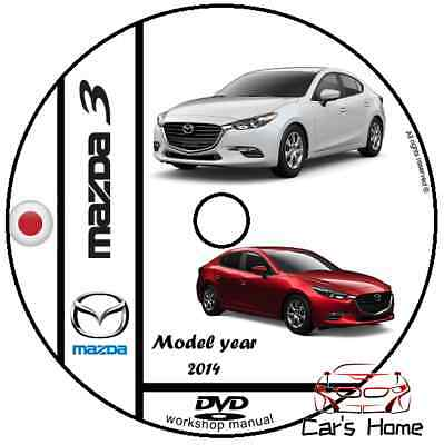 MANUALE OFFICINA MAZDA 3 my 2014 WORKSHOP MANUAL DVD