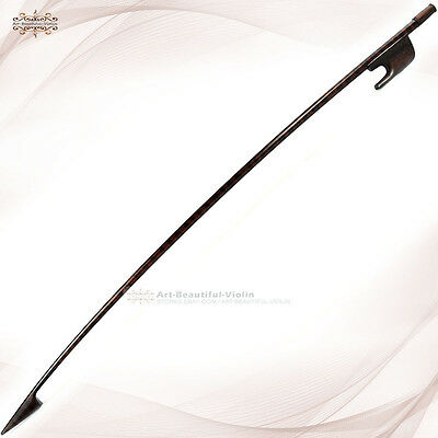 Master Antique Old Baroque Style Beautiful Snakewood 3/4 Double Bass Bow 106g