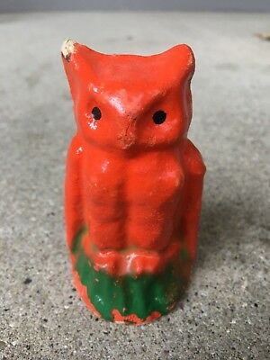 Rare Antique Paper Mache Halloween Owl