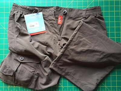 Craghoppers Womens Ladies Nosilife Crops Shorts Trousers Cocoa size 12
