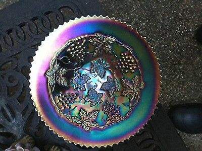 Purple  G & C Carnival Glass Plate, Mint, Great Example