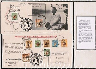 1975 Rhodesia Albert Schweitzer Commem Centenary Cover