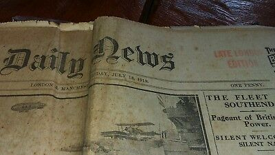 Daily News. July 18 1919. London & Manchester. Late London Edition.
