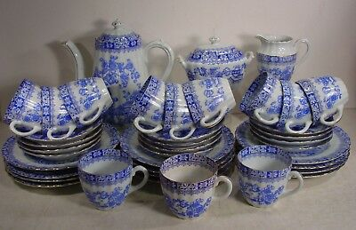 "39tlg. Kaffee Service original  ""CHINA BLAU""  um 1915 - 1917"