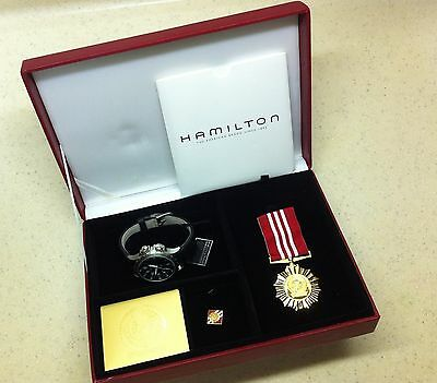 New Limited Edition Singapore Army Hamilton Watch Box Set-Few Boxes Left