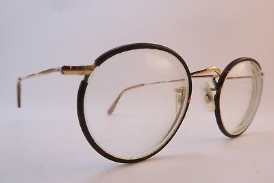 Vintage off round eyeglasses frames gold filled ALGHA 14KT GF celluloid England
