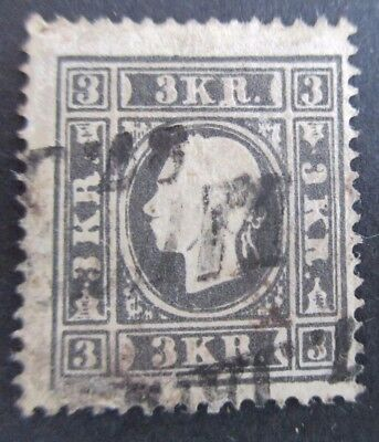 Austria - 1858 3K Black - Decent Used Example - Cat £225