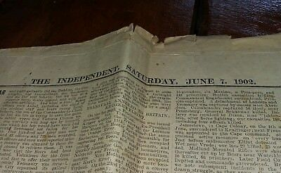 THE INDEPENDENT. JUNE 7 1902 Newspaper.