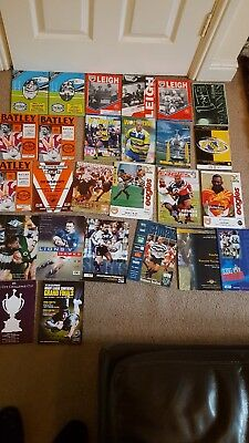 26 mixed rugby league programmes 1980s- 2000s