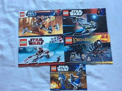 LEGO random star wars/LOTR instructions only - Job lot - bundle