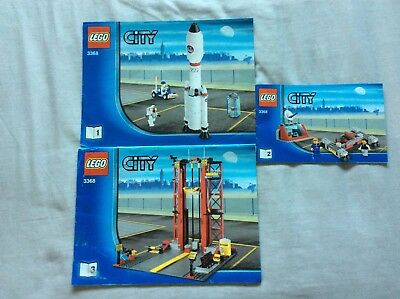 LEGO instructions only 3368 Space centre set - 3 booklets - job lot - bundle