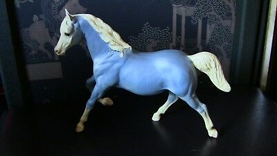 Rare Vintage Beyer Horse Wedgewood Blue Mare 1960s 9x12 Large