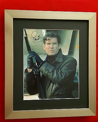 Hand Signed Framed & Mounted Photograph of Pierce Brosnan (Cert. Authenticity)