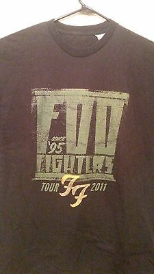 """Foo Fighters T Shirt Fall Tour 2011 Band Music """"since '95"""" with Rise Against XL"""