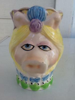 Vintage Muppets Miss Piggy Sigma Head vase Hard to Find very good condition