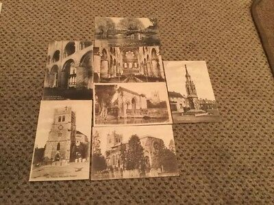 Vintage Postcards Of Waltham Abbey 6 Total