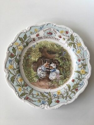 Royal Doulton Brambly Hedge Plate - The Engagement - 1989 - Unboxed