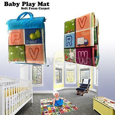 2 Sided Kids Crawling Educational Game Baby Play Mat Soft Foam Carpet Children