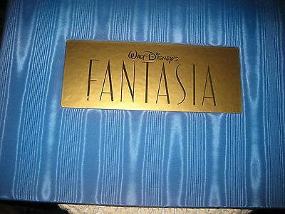 """Disney     """"fantasia"""" Commerative Book Of Six Cels  Preowned"""