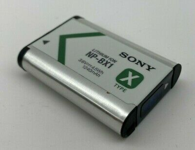 Genuine Sony NP-BX1 Lithium-Ion X Type Battery (Silver) VG OEM