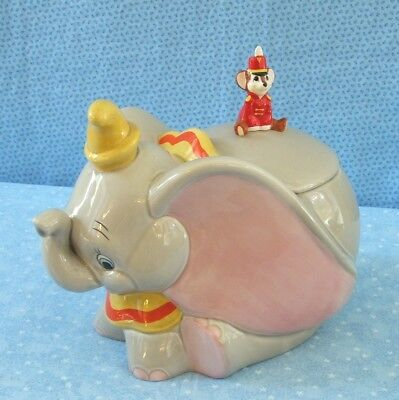 COOKIE JAR DISNEY CIRCUS DUMBO with MOUSE ON LID