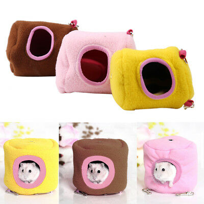 Hamster Gerbil Bed Hammock House- Rat Mouse Pet Hanging Nest Sleep Home Nester