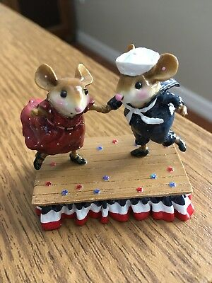 Wee Forest Folk M-369s Dancing  for the Stars & Stripes