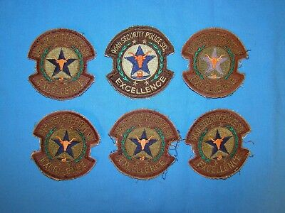 Korea-Vietnam Air Force USAF Squadron Patch LOT, 96th Security Police (F)