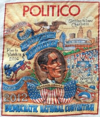 Politico Political Graphic Tee T Shirt 2012 DNC Obama Nominee Charlotte Size XL